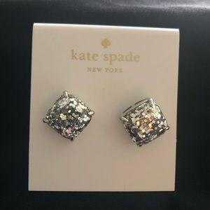 Kate Spade confetti silver studded earrings NEW!!